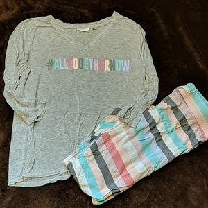 NY&Co Rainbow Pajama Set